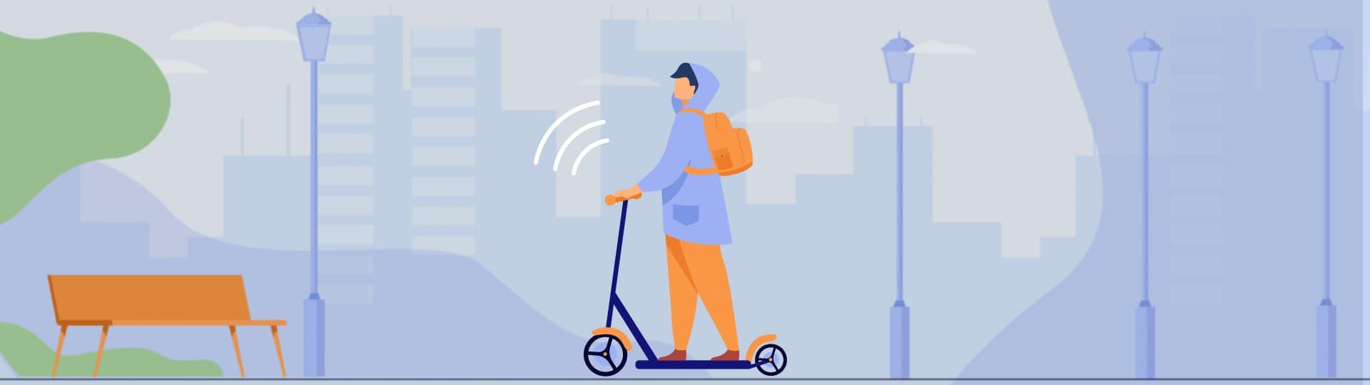 GPS контроль электроскутеров, электросамокатов и гиробордов